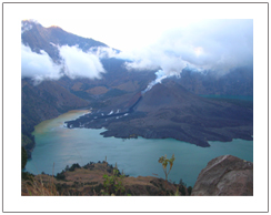 A baby of Mount Rinjani eruption