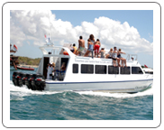 Fast boat from Bali island to Gili island, Lombok