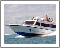 Ocean star express fast boat from Serangan Bali to Gili Trawangan and Lombok island