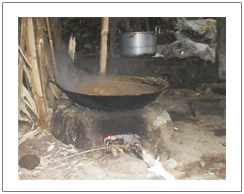 Process of palm sugar maker in Lombok island