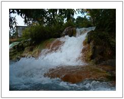 Soa hot spring water at Bajawa